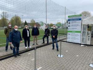 Erste Fahrrad-Drive-In Teststation in Eimsbüttel eröffnet